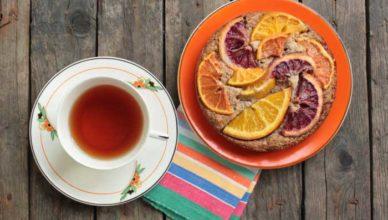 ceai din coji de portocale