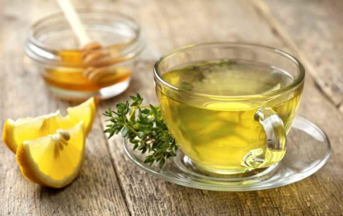 ceai de cimbru cu miere si lamaie)